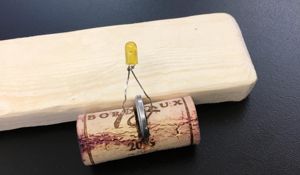 The first idea, a cork flashlight.